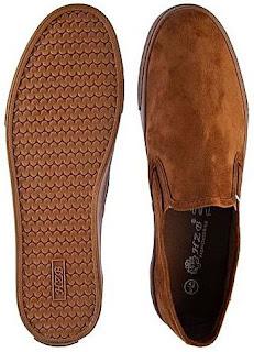 Buy online: HZB All Brown Suede Slip On Sneaker