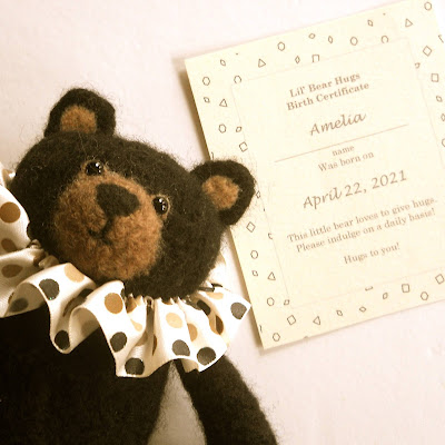Lil' Bear Hugs with birth certificate