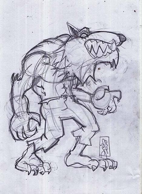 Werewolf - sketch de personagem
