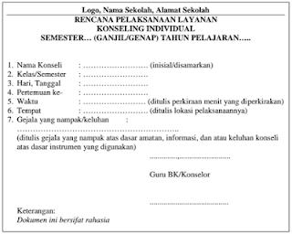 RPL Konseling Individual BK Kurikulum 2013 SMP, SMA, SMK