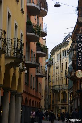 Via Nassa una delle vie del centro di Lugano
