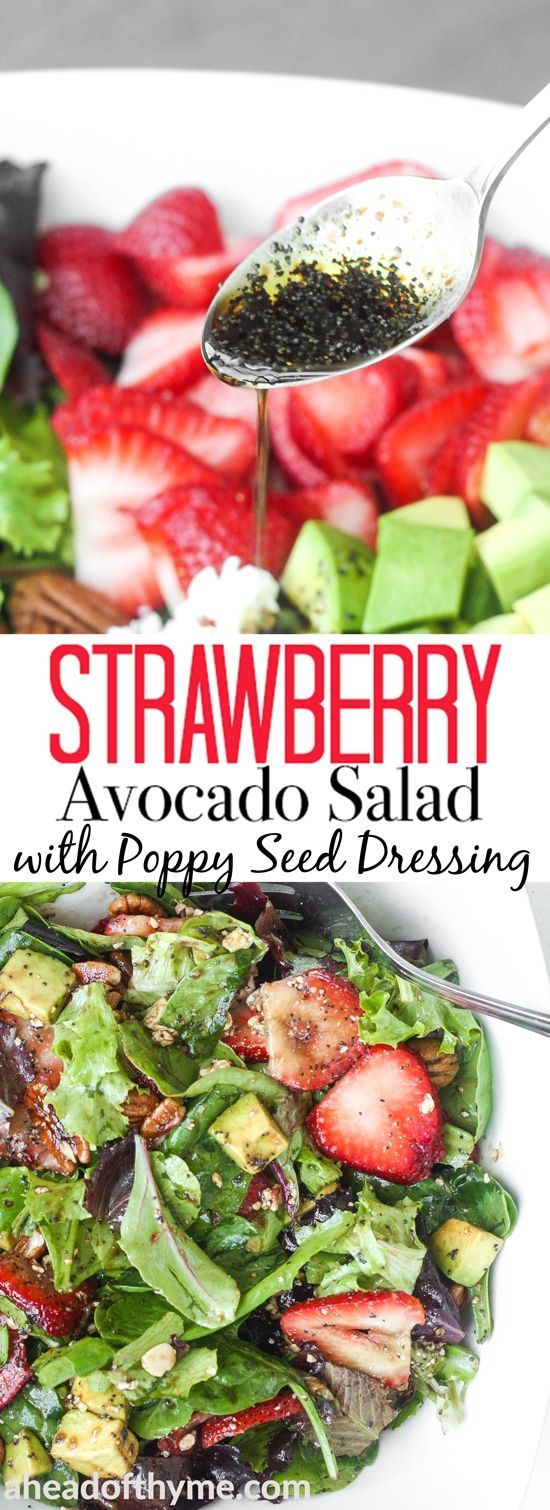 STRAWBERRY AVOCADO SALAD WITH POPPY SEED DRESSING