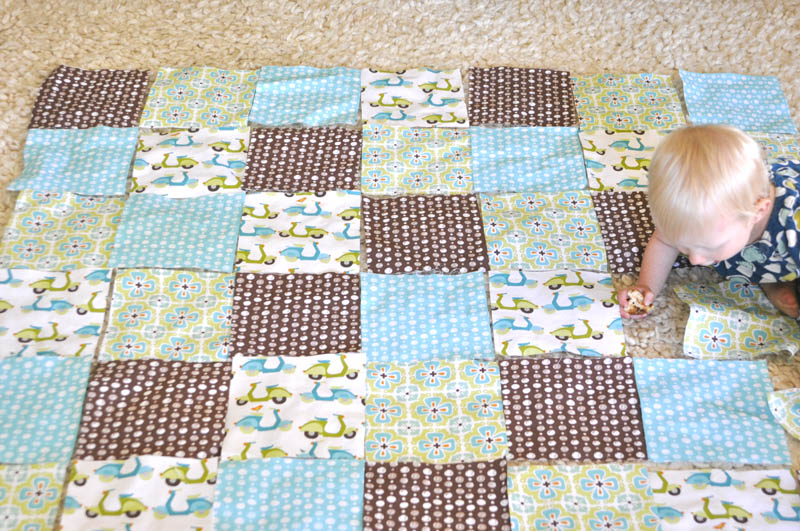A simple baby quilt that anyone can make.