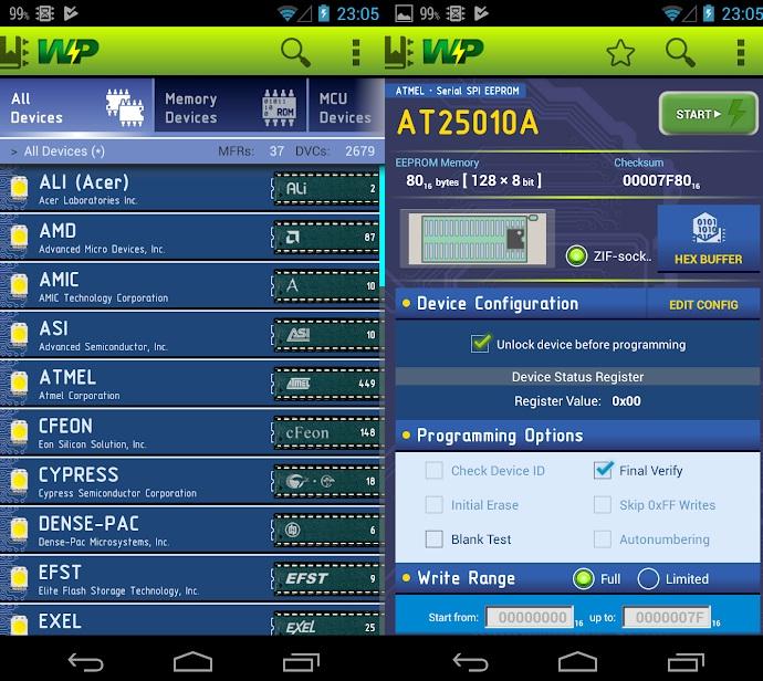 WizardProg Mobile : Programming Operation for TL866