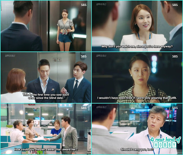 hwa shin shout at director for firing na ri when she got the higest rating for the weather forecast - Jealousy Incarnate - Episode 3 Review - Hospital Encounter