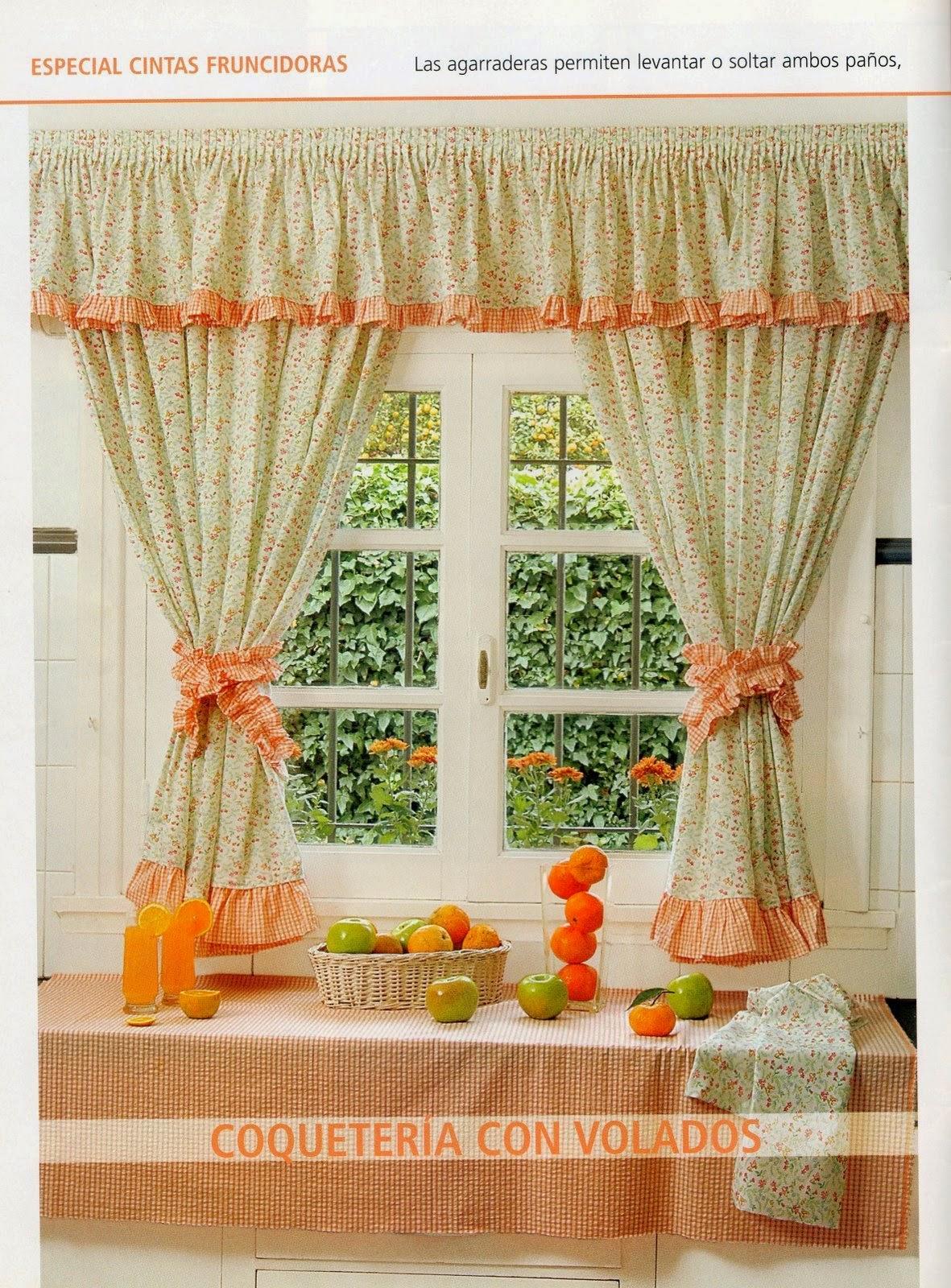 Como hacer cortinas paso a paso revistas de manualidades for Telas de cocina