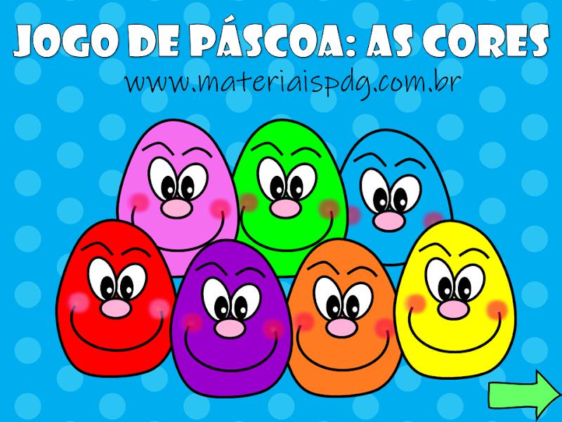 JOGO INTERATIVO DE PÁSCOA - AS CORES