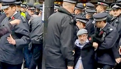 EDL arrests at the Cenotaph