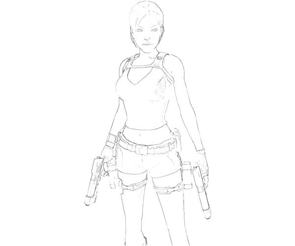 Tomb Raider Anime Coloring Coloring Pages