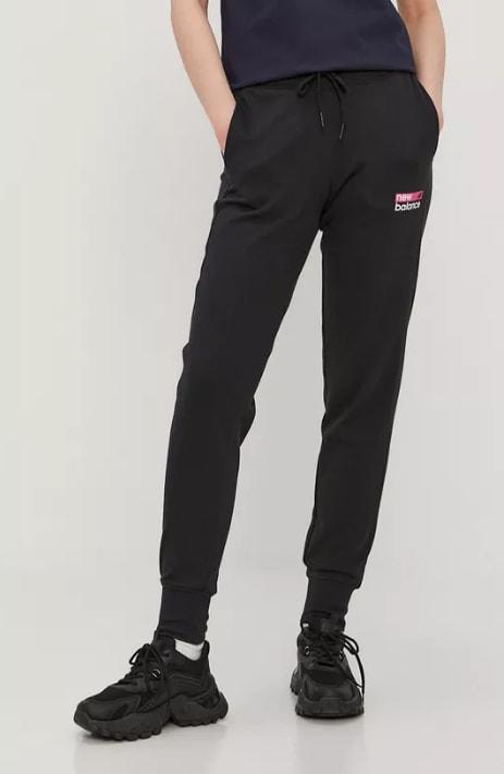New Balance - Pantaloni de trening de dama negri