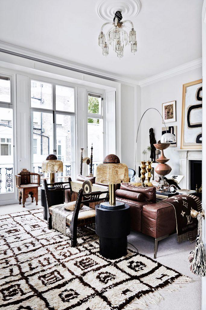 Chez Malene Birger à Londres - tapis berbère