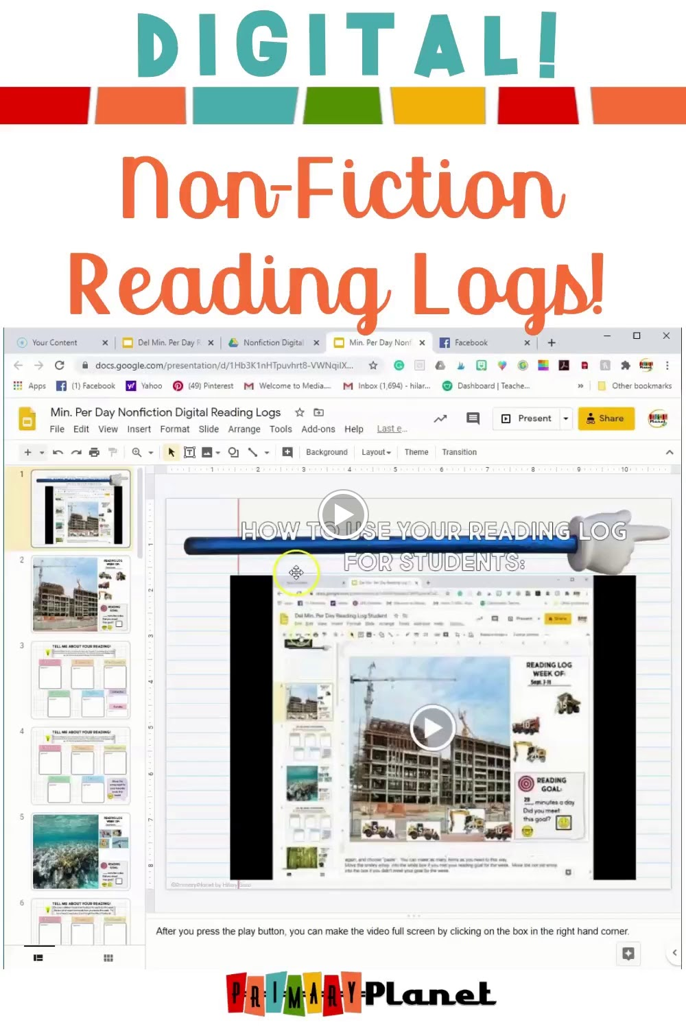 Video of Digital nonfiction Reading Logs
