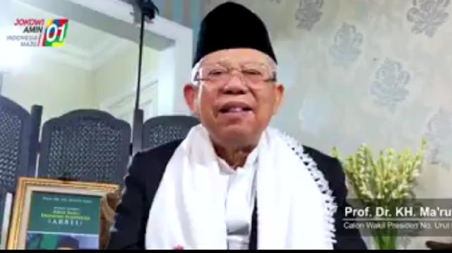 Beredar Video Ma'ruf Amin Ucapkan Selamat Natal