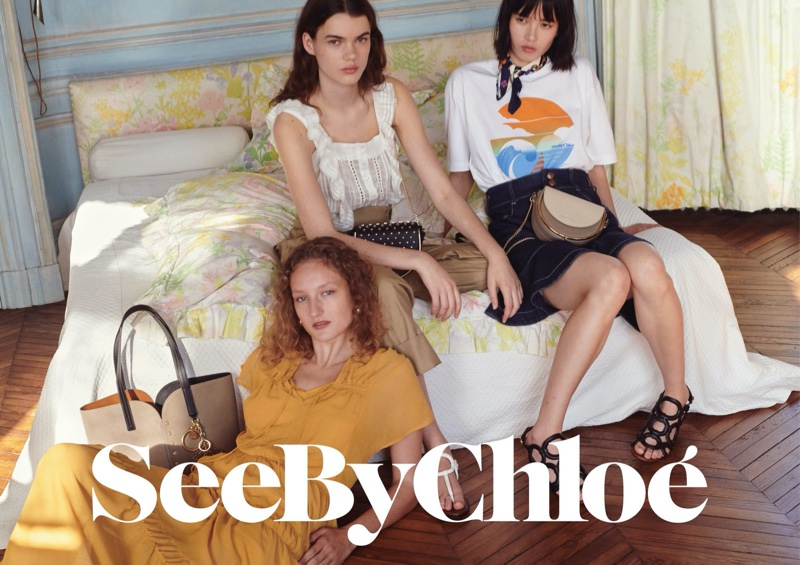 Agnes, Hannah & Yidan Lounge in See by Chloe Summer 2020 Campaign
