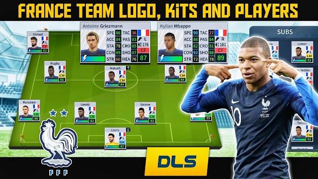 How To Create France National Football Team Logo, Kits & Players in Dream League Soccer 2019