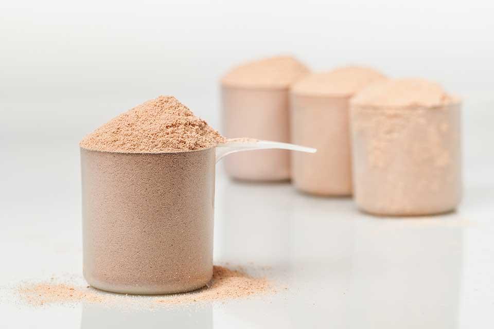 Scoops de whey protein. Foto: Reprodução