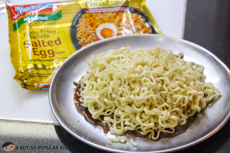 Flat-like noodles of Indo Mie instant noodles