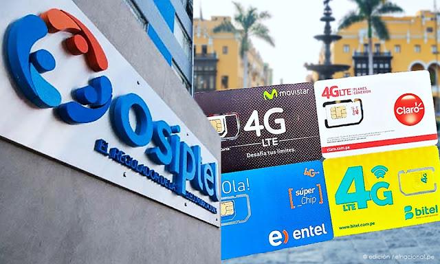 Osiptel multó a Movistar, Claro, Entel y Bitel con S/ 1.6 millones tras venta de chips en vía pública