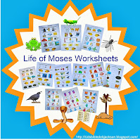 http://kidsbibledebjackson.blogspot.com/2013/09/life-of-moses-worksheets.html