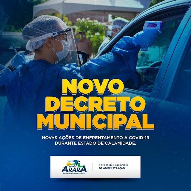Prefeitura de Arara publica novo decreto municipal