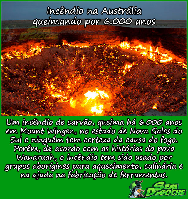 Incêndio na Austrália queimando por 6.000 anos
