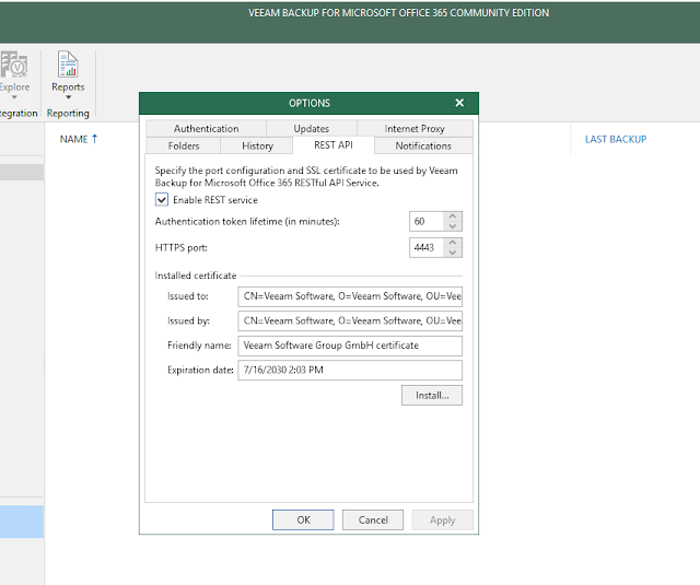 Veeam Backup for O365 API