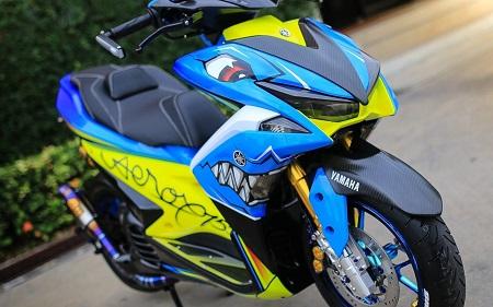 Modifikasi Yamaha Aerox blck