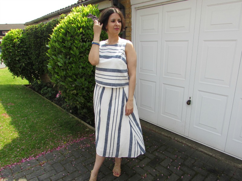 F&F striped top and skirt