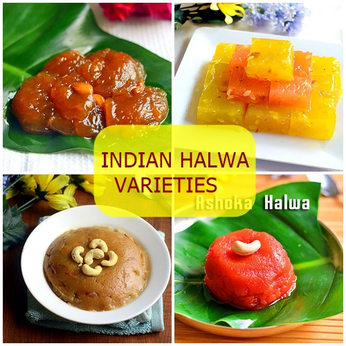 INDIAN HALWA VARIETIES