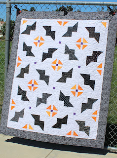 BAT QUILT-HALLOWEEN QUILT-FALL QUILT-BATS-EASY QUILT PATTERN