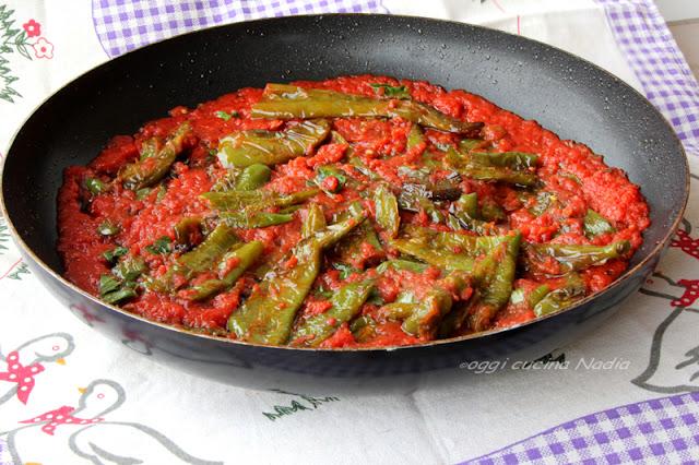 peperoni friarielli al pomodoro