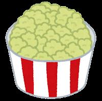 ポップコーンのイラスト(緑)