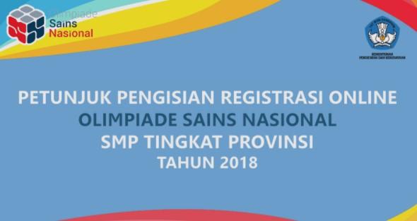 untuk siswa SMP merupakan kegiatan lomba matapelajaran Matematika Arsip OSN:  Petunjuk Registrasi Online OSN SMP Tingkat Provinsi Tahun 2018