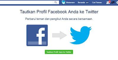 Menghubungkan Akun Facebook dengan Twitter