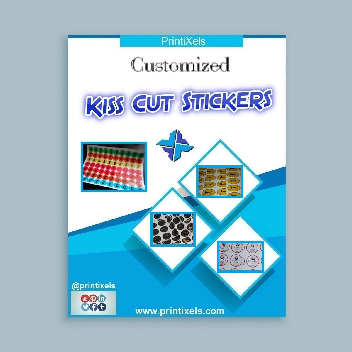 Customized Kiss Cut Stickers, Half Cut Label Sticker Sheets