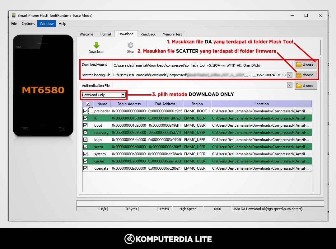 Cara Flash Infinix HOT 8 Lite X650 Bootloop, Fix Auto Mode Fastboot, dan Dead Boot (Mati Total)