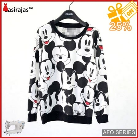 AFO392 Model Fashion Sweater Mickey Full Modis Murah BMGShop