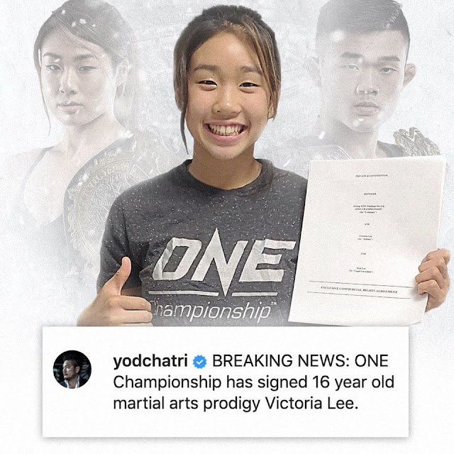 Teenage Mixed Martial Arts Prodigy Victoria Lee Signs with ONE Championship