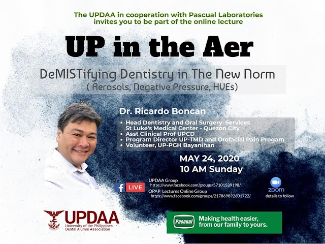 "UPDAA Webinar: ""UP in the Aer - Demistifying Dentistry in the new Norm"""""