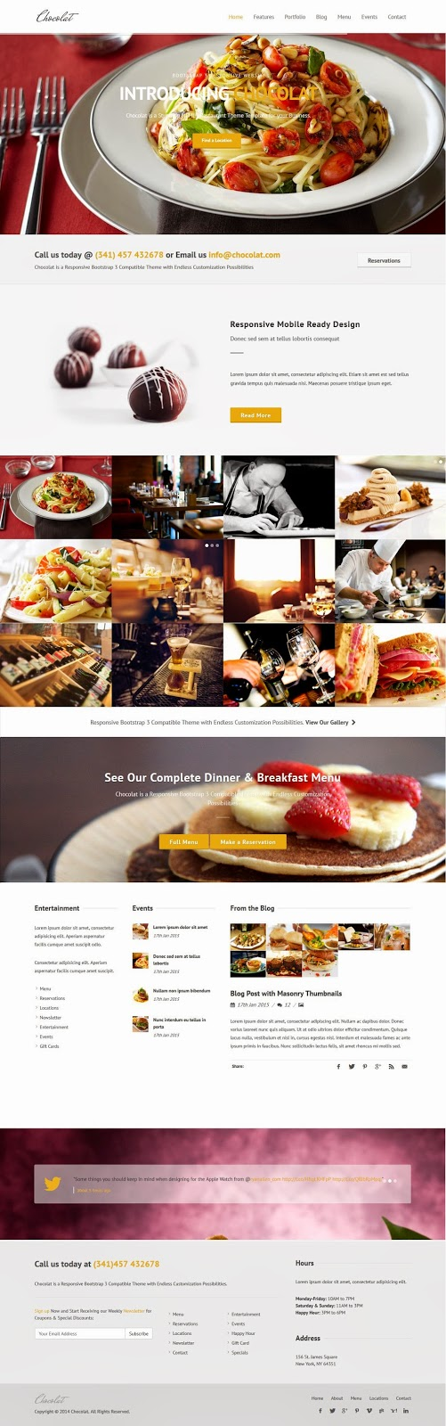 Best Bootstrap Restaurant Template