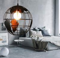 Globe modern lighting design ideas for contemporary bedroom design inspiration