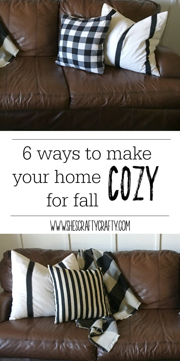 cozy home- fall - plaid- pillows