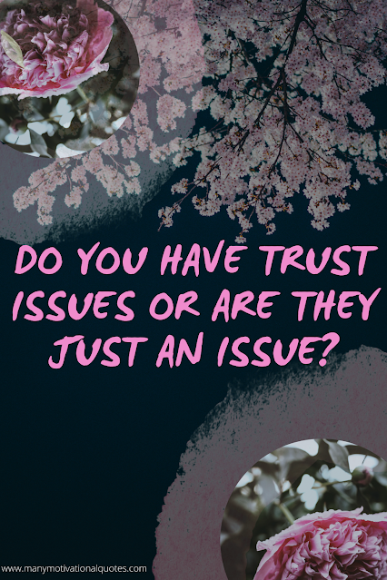 Do You Have Trust Issues or Are They Just An Issue?