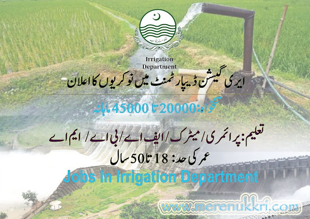 Irrigation Department  Punjab Jobs 2021  Government Punjab Jobs 2021 Apply Online