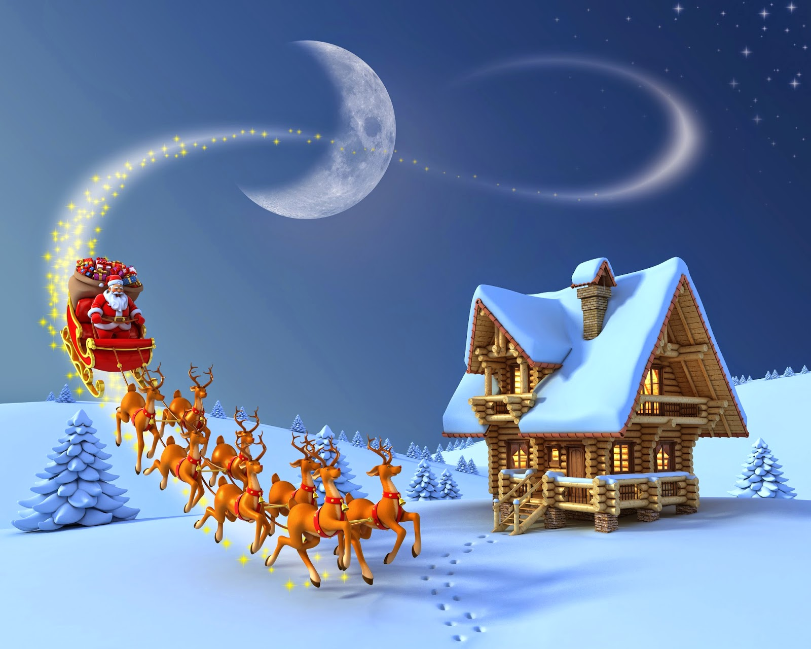 pictures of santa and his sleigh christmas cartoon animation children images pictures for 4985