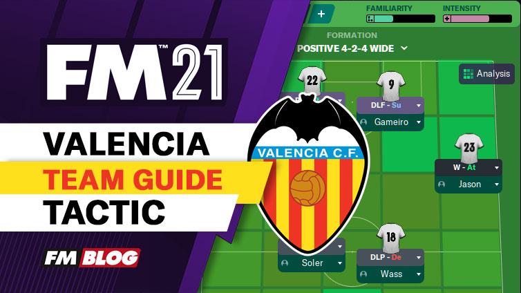 FM21 Valencia CF Vertical 4-2-4 Tiki-Taka Tactic | Team Guide