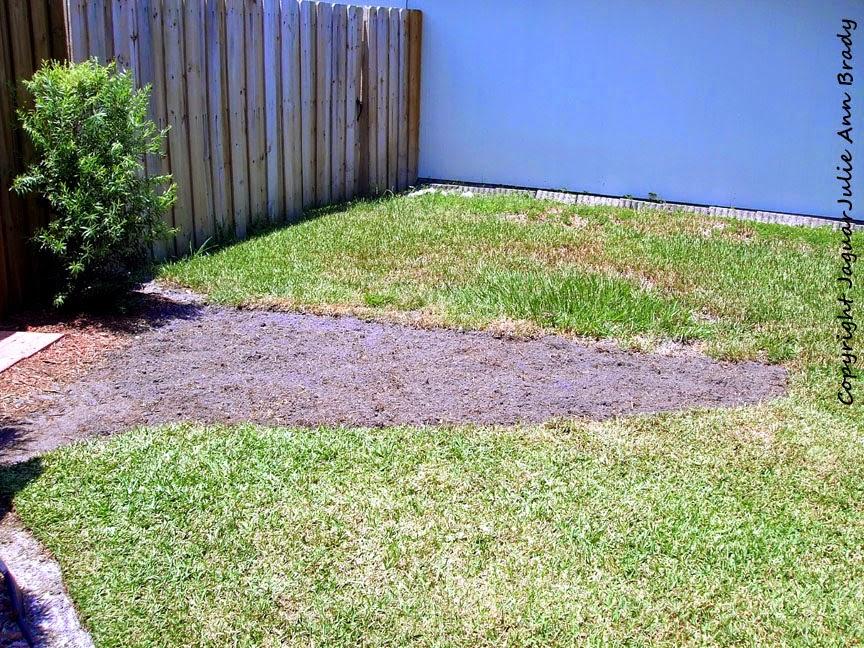 front yard accent garden dug plot