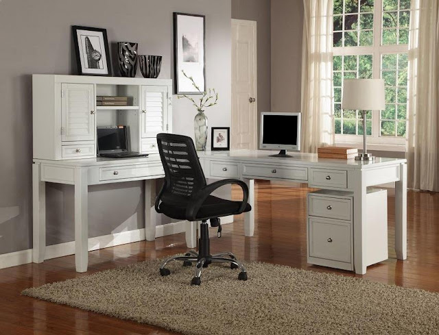 best buy white l shaped home office desk next day delivery sale