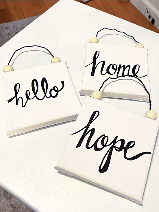 hope, hello and home signs