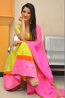 Actress Richa Panai Latest Pos in Yellow Anarkal Dress at Rakshaka Bhatudu Telugu Movie Audio Launch Event  0014.JPG